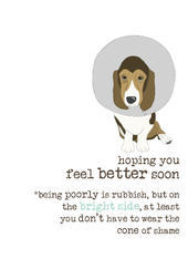 Feel Better Soon Sparkle Finished Greeting Card