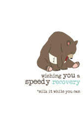 Speedy Recovery Sparkle Finished Greeting Card
