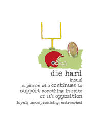Die Hard Sparkle Finished Greeting Card