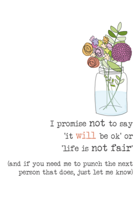 Promise Not To Say Sparkle Finished Greeting Card