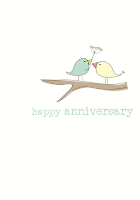 Happy Anniversary Sparkle Finished Greeting Card