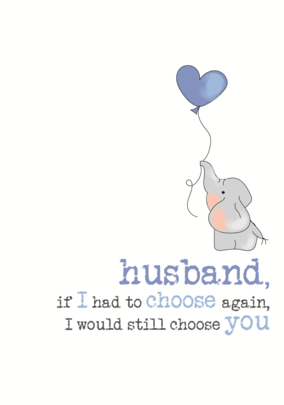 Husband Anniversary Sparkle Finished Greeting Card