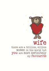 Wife You Are My Favourite Sparkle Finished Greeting Card