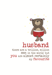 Husband You Are My Favourite Sparkle Finished Greeting Card