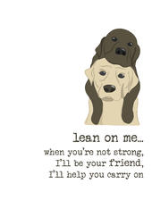 Lean On Me Sparkle Finished Greeting Card