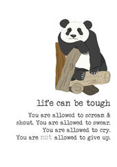 Life Can Be Tough Sparkle Finished Greeting Card