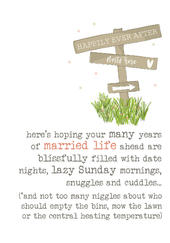 Married Life Wedding Sparkle Finished Greeting Card