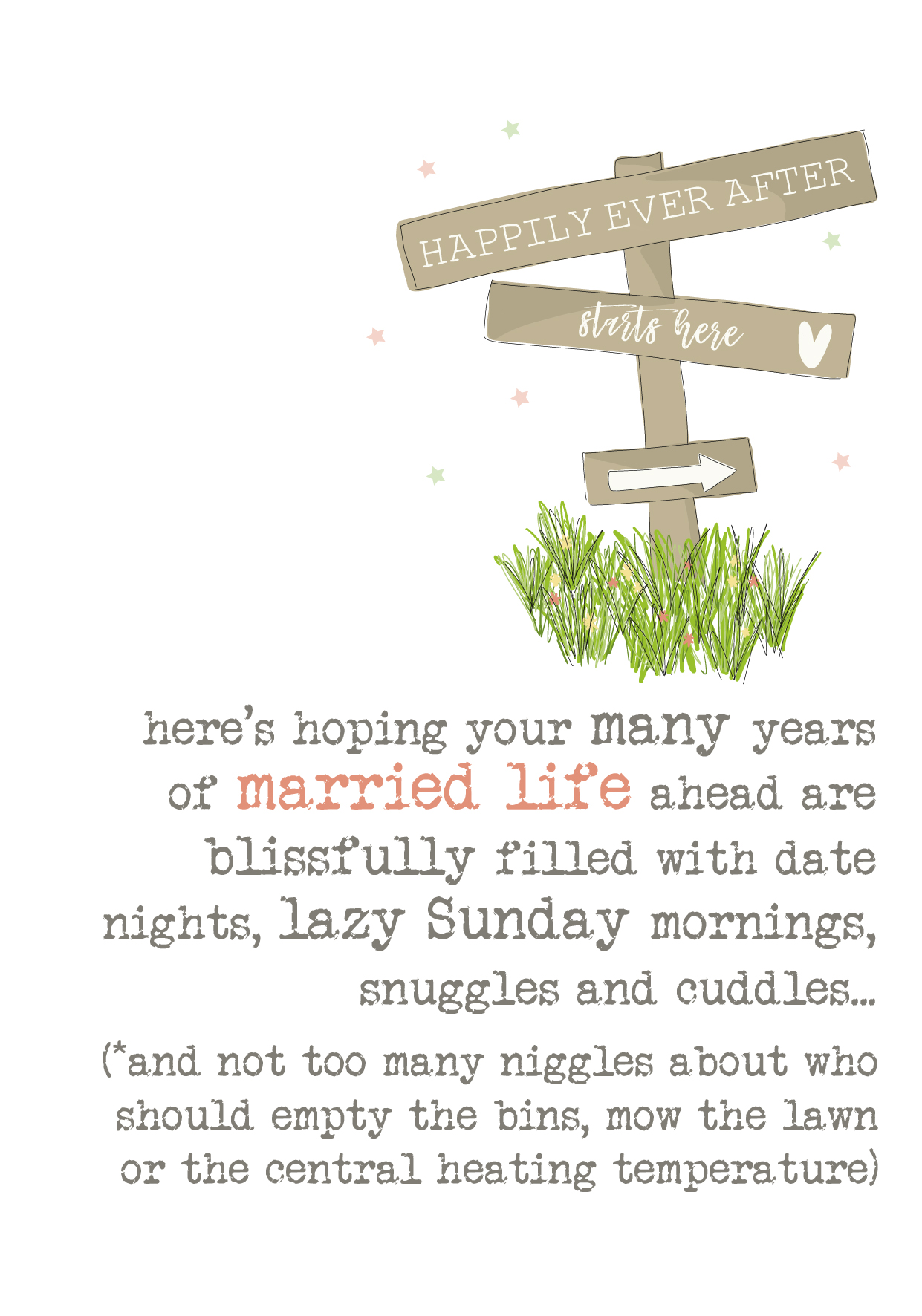 Married Life Wedding Sparkle Finished Greeting Card Cards Love Kates