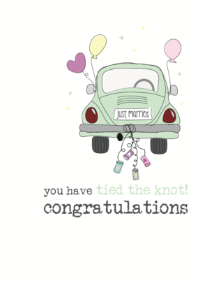 Wedding Congrats Sparkle Finished Greeting Card