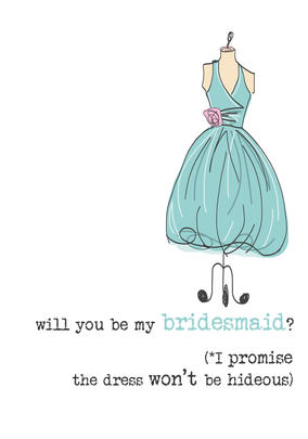 Will You Be My Bridesmaid Sparkle Finished Greeting Card