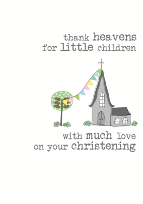 Christening Sparkle Finished Greeting Card