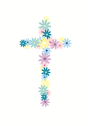 Simple Cross Sparkle Finished Greeting Card