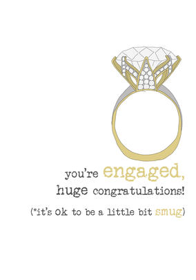 Engagement Congrats Sparkle Finished Greeting Card