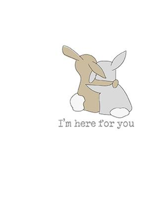 I'm Here For You Sparkle Finished Greeting Card