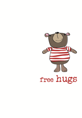 Free Hugs Sparkle Finished Greeting Card