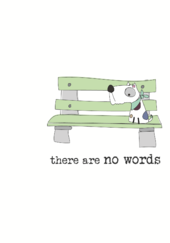 There Are No Words Sparkle Finished Greeting Card