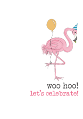 Birthday Woo Hoo Sparkle Finished Greeting Card