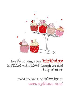 Birthday Cake Sparkle Finished Greeting Card