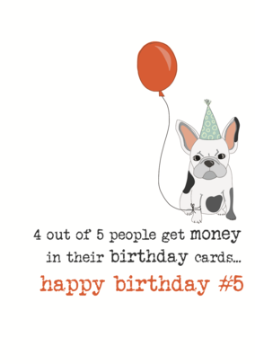 Birthday Money Sparkle Finished Greeting Card