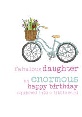 Daughter Birthday Sparkle Finished Greeting Card