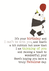 Birthday Thinking Of You Sparkle Finished Greeting Card