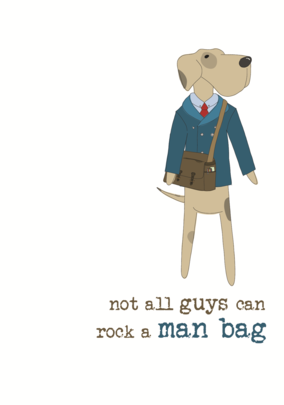 Rock A Man Bag Sparkle Finished Greeting Card