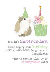 Sister-In-Law Birthday Sparkle Finished Greeting Card