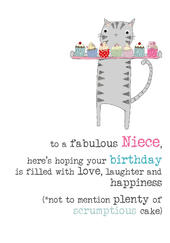 Niece Birthday Sparkle Finished Greeting Card