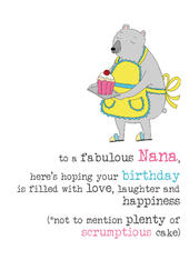 Nana Birthday Sparkle Finished Greeting Card