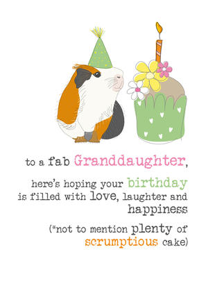 Granddaughter Birthday Sparkle Finished Greeting Card