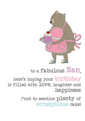 Nan Birthday Sparkle Finished Greeting Card