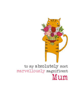 Magnificent Mum Sparkle Finished Greeting Card