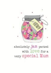 With Love Mum Sparkle Finished Greeting Card