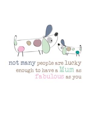 Fabulous Mum Sparkle Finished Greeting Card