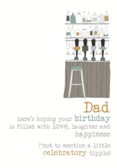 Dad Birthday Sparkle Finished Greeting Card