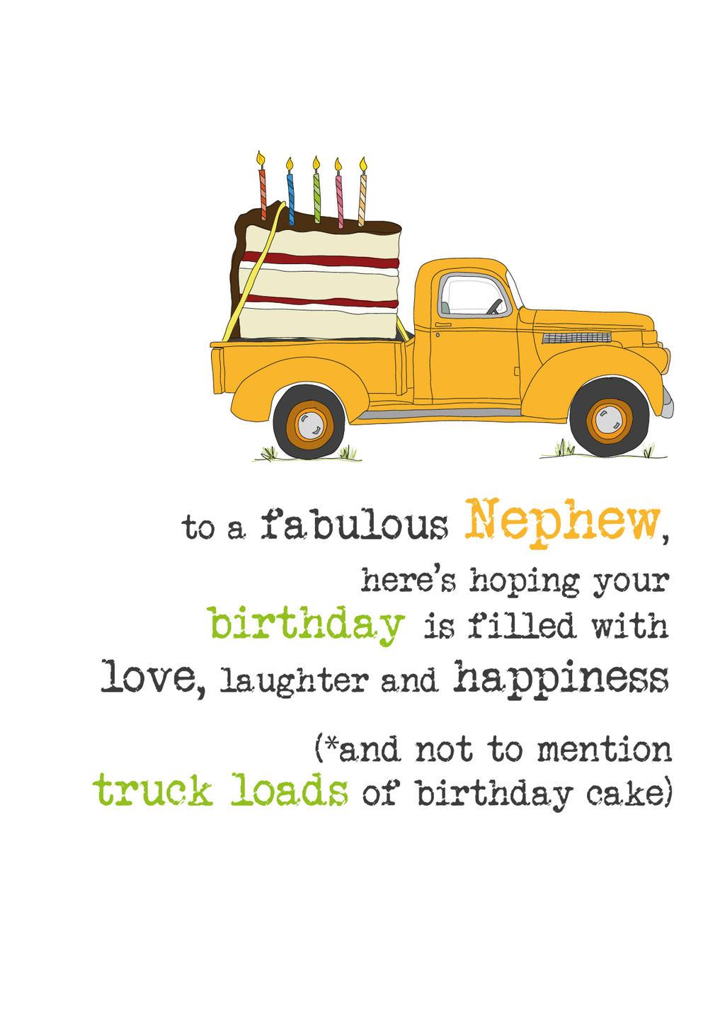 Nephew Birthday Sparkle Finished Greeting Card