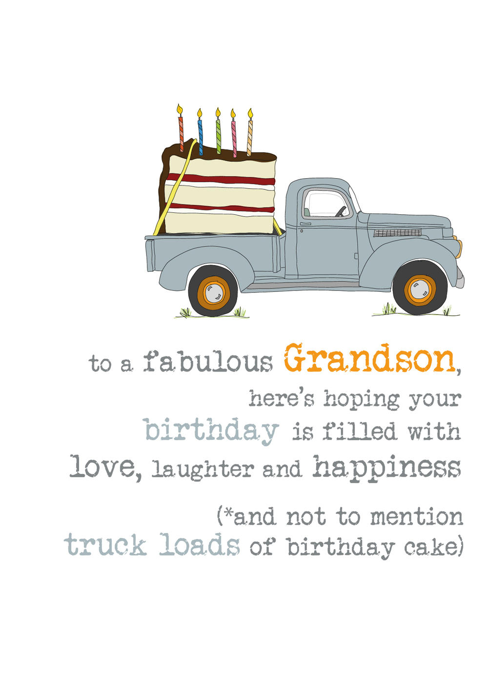 Grandson Birthday Sparkle Finished Greeting Card