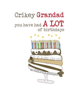 Grandad Birthday Sparkle Finished Greeting Card