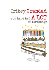 Grandad Birthday Sparkle Finished Greeting Card
