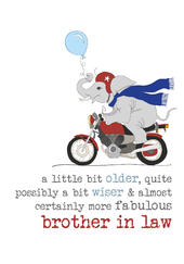 Brother-In-Law  Birthday Sparkle Finished Greeting Card