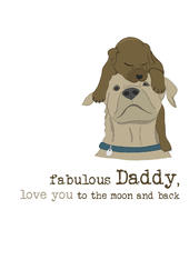 Fabulous Daddy Sparkle Finished Greeting Card