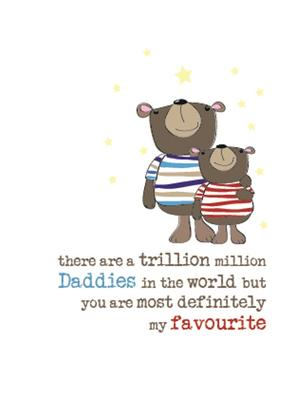 Favourite Daddy Sparkle Finished Greeting Card