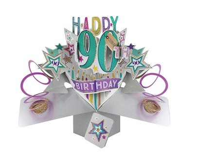 Happy 90th Birthday Pop-Up Greeting Card