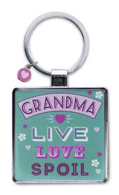 Grandma Live Love Spoil Little Wishes Metallic Keyring