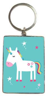 Magical Unicorn Metallic Keyring