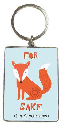 For Fox Sake Metallic Keyring