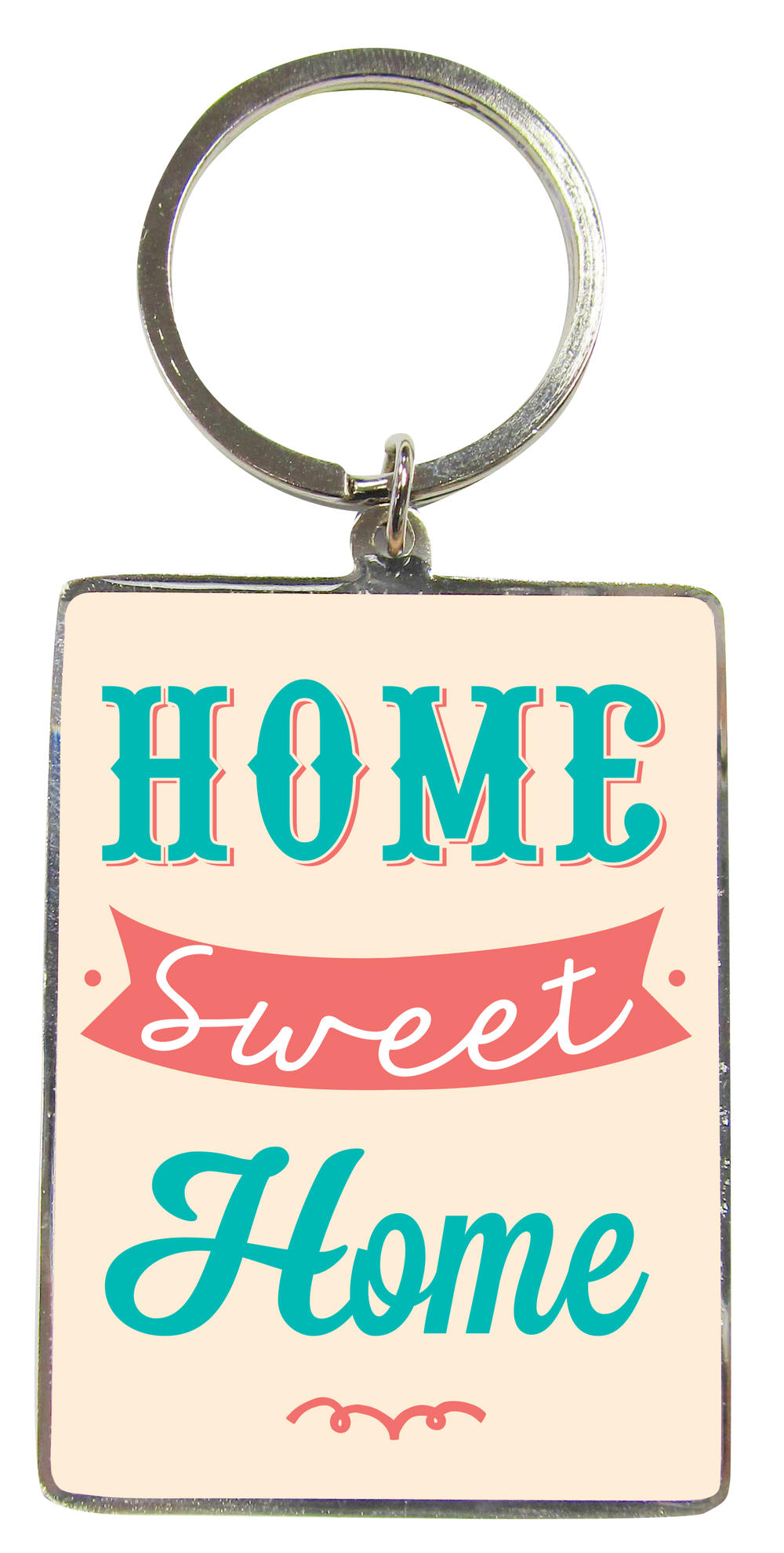 Home Sweet Home Metallic Keyring