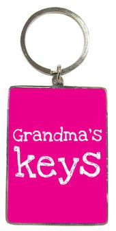 Grandma's Keys Pink Metallic Keyring