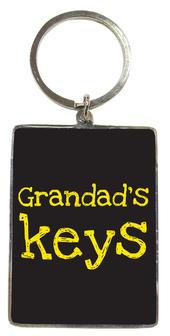 Grandad's Keys Metallic Keyring