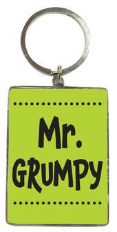 Mr Grumpy Metallic Keyring